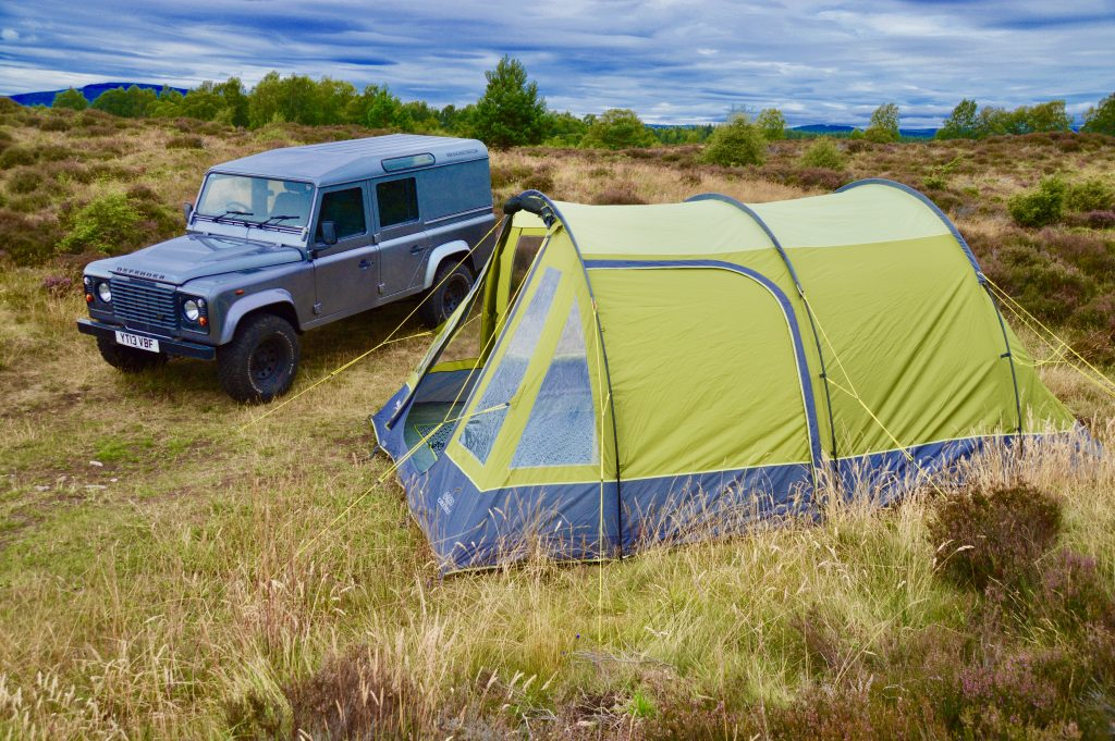 Side view of our Vango Icarus 500 tent
