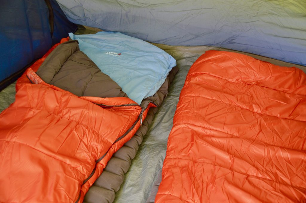 Sleeping bags, mats and liners