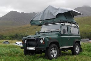 Defender Roof Tent Hire Scotland
