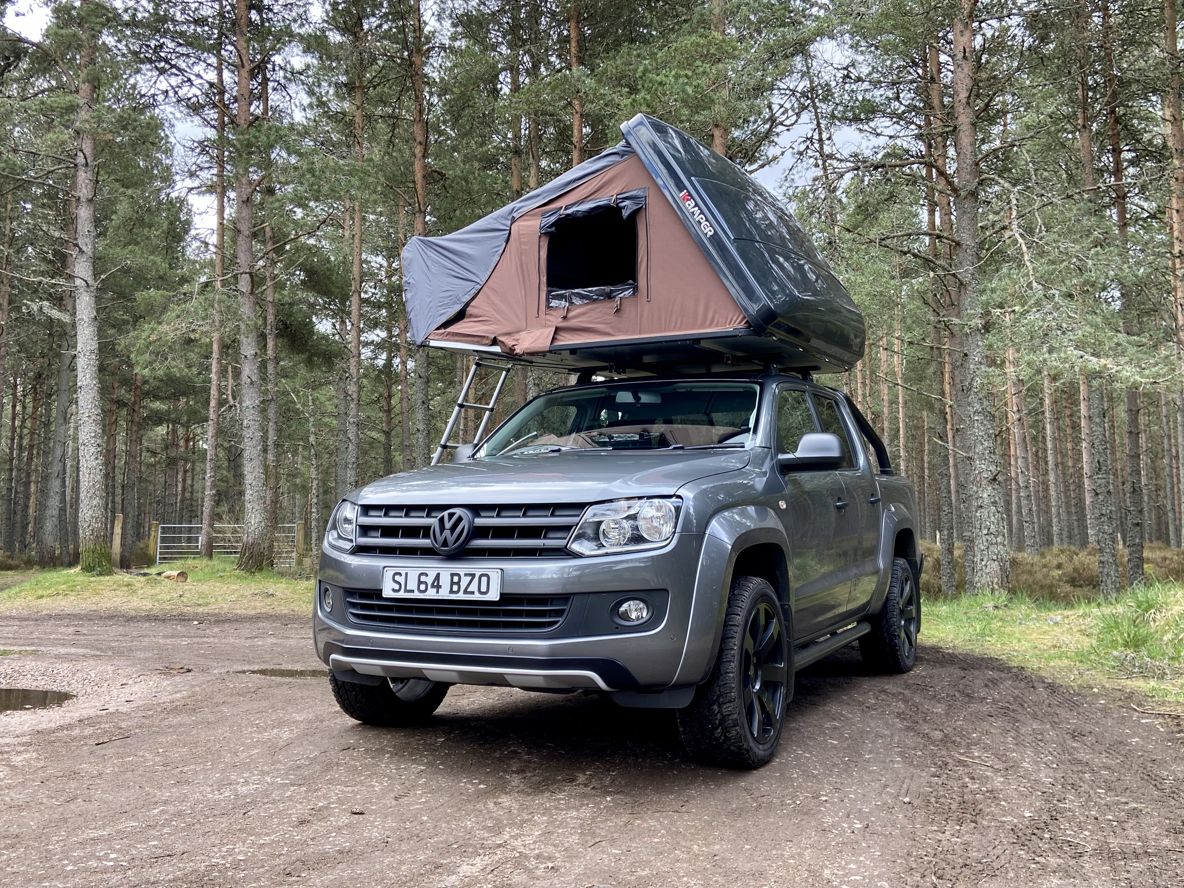 Defender Roof Tent Hire in the Scottish Highlands